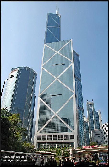 香港中银大厦仰图