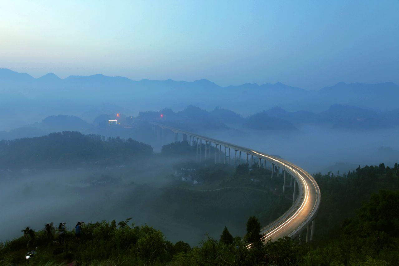重庆周家山大桥晨韵 - 自然风景 - 数码摄影网论坛
