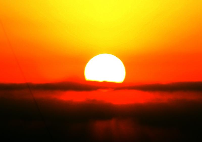 太阳和风景图片