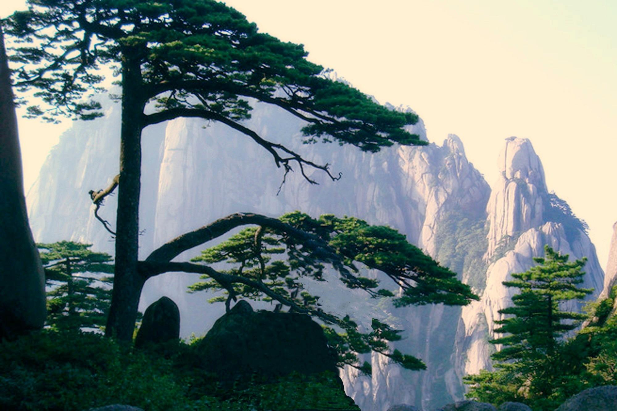 壁纸 风景 国画 2000_1333