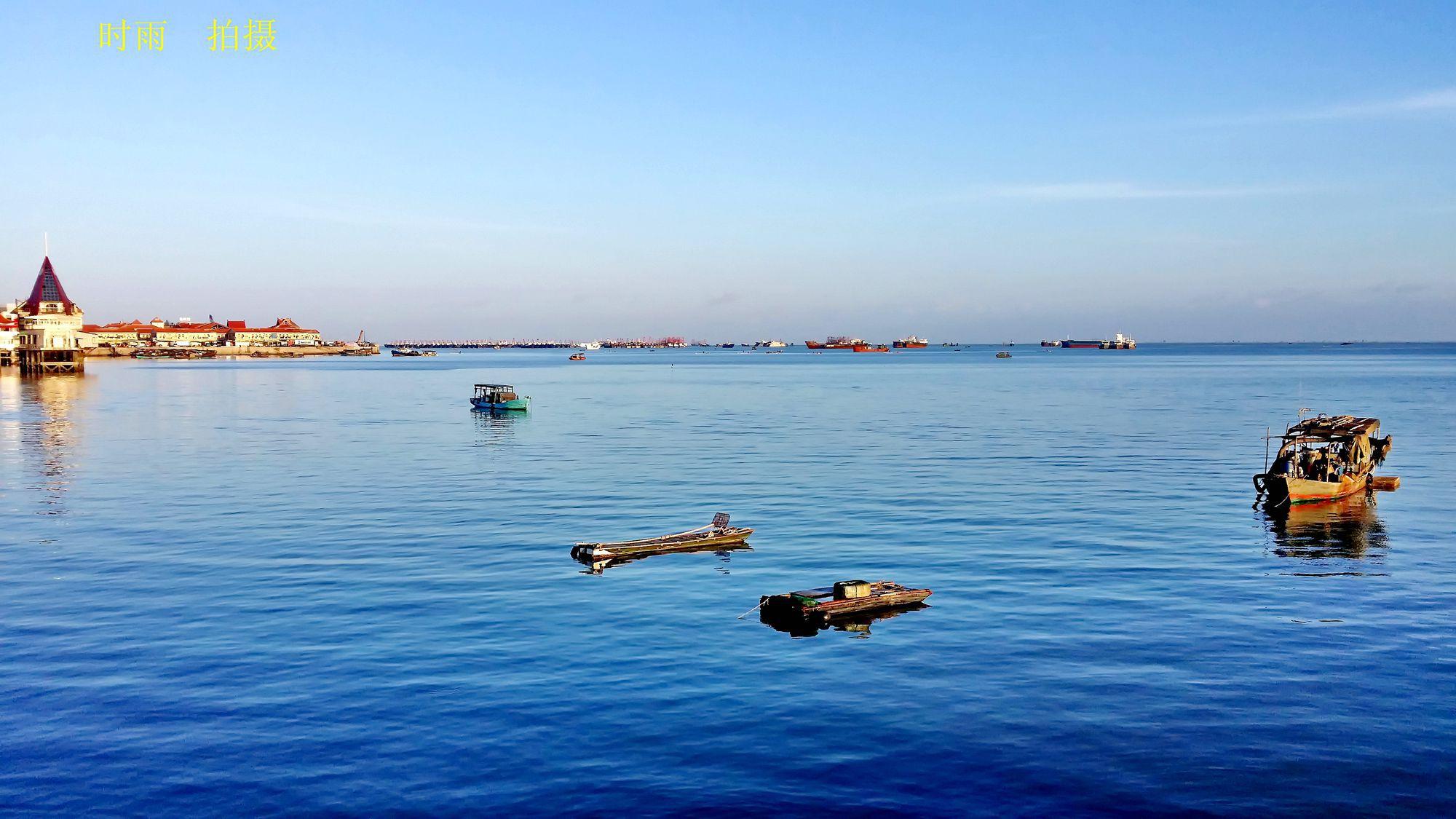 速写北海风景简单图片