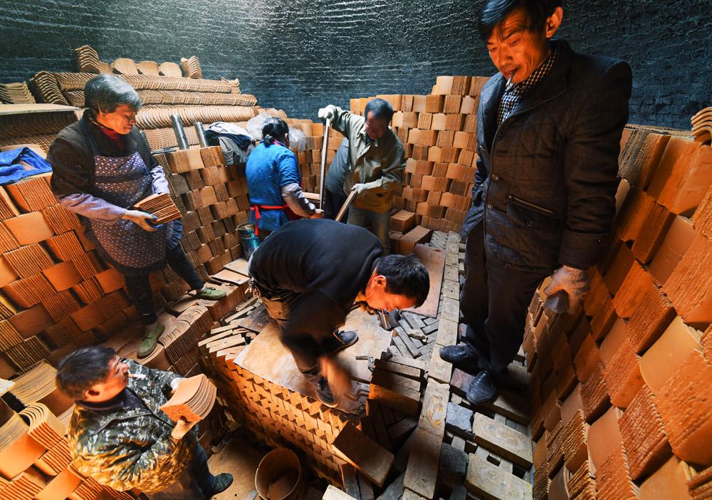 农村环形烧砖窑结构图