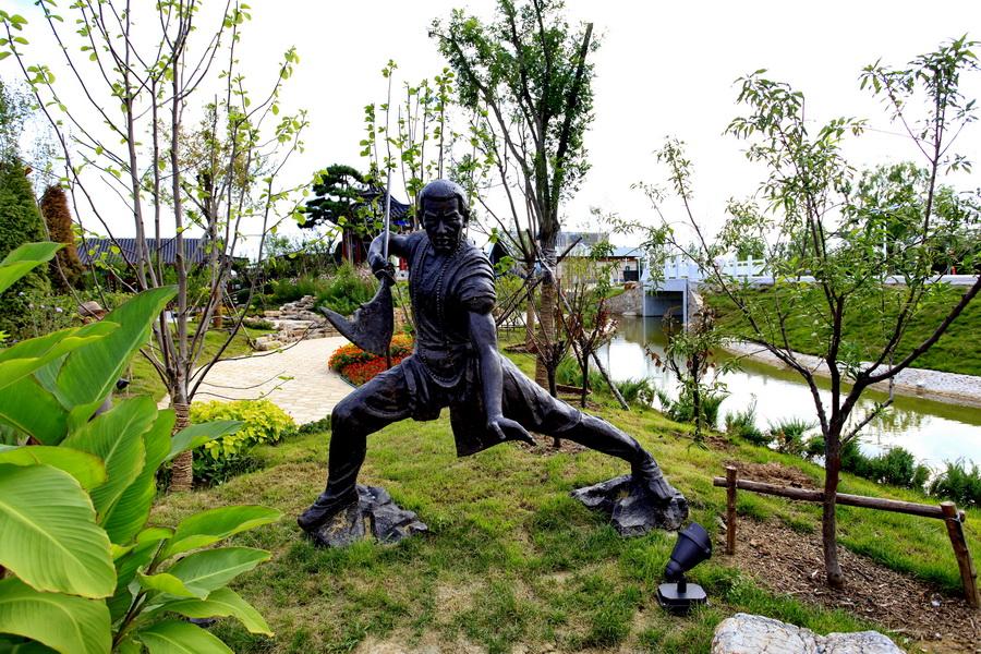 杂技武术之乡雕塑