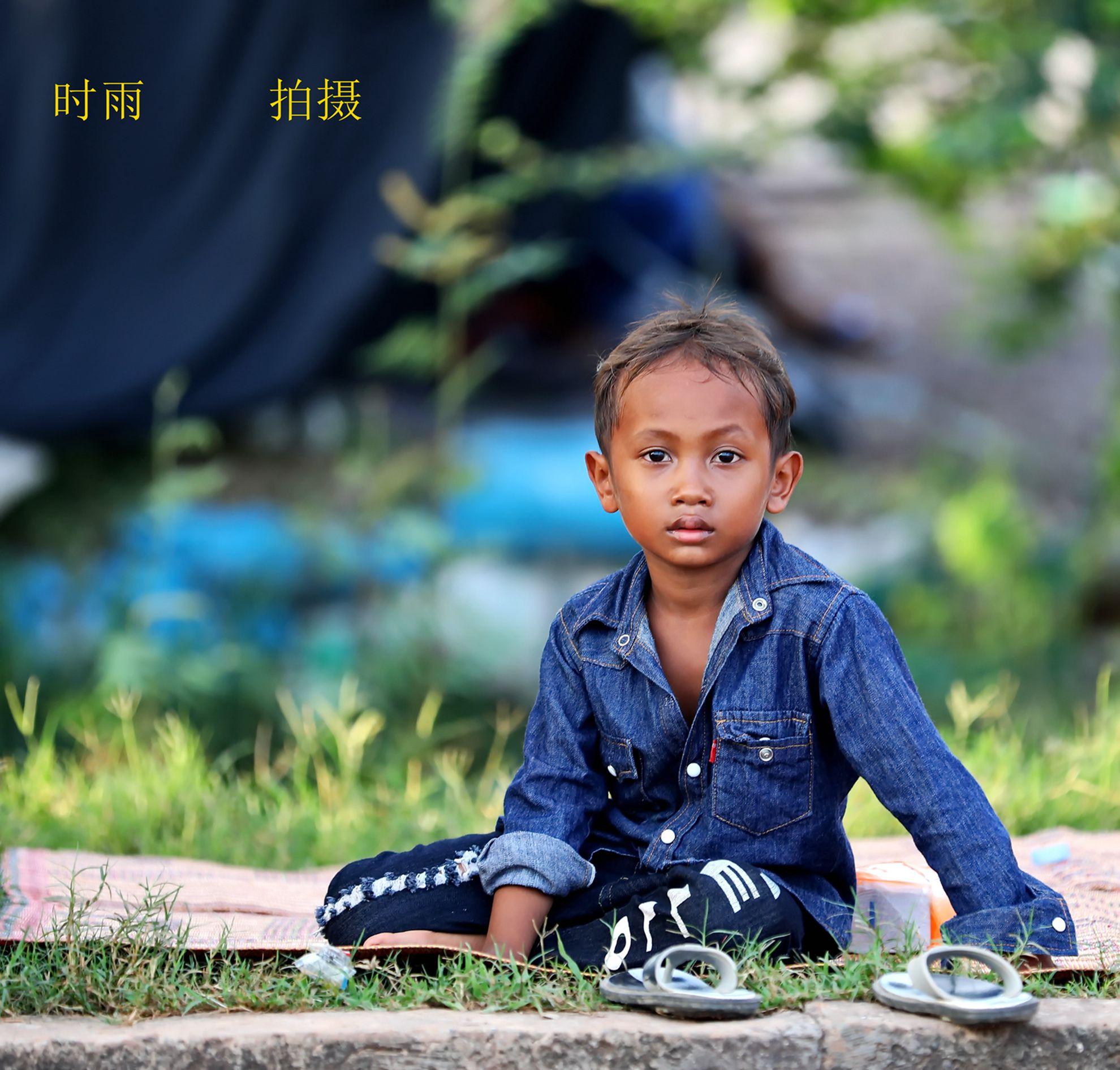 可爱的孩子(拍摄于柬埔寨)