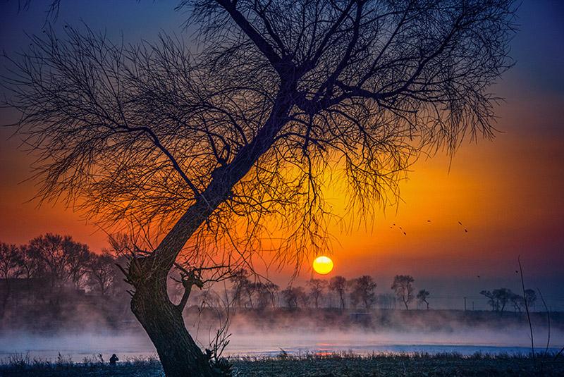 雾凇岛日出