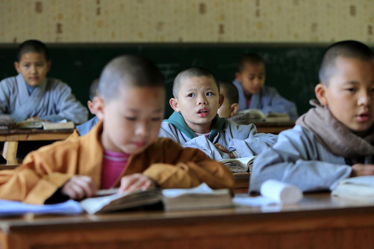 隐藏深山里的佛学堂---课堂上