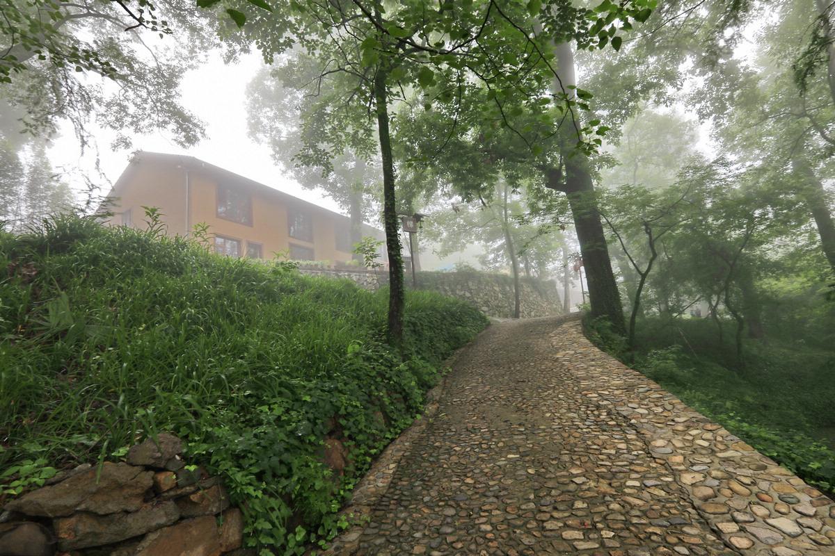 晨雾中的小山村
