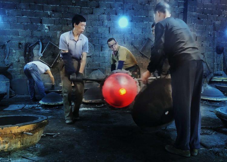 7大国赛助力国协积分‖跳钟馗、花鼓戏、老式泥膜铸铁锅、传统砖瓦窑、古老手工木榨。