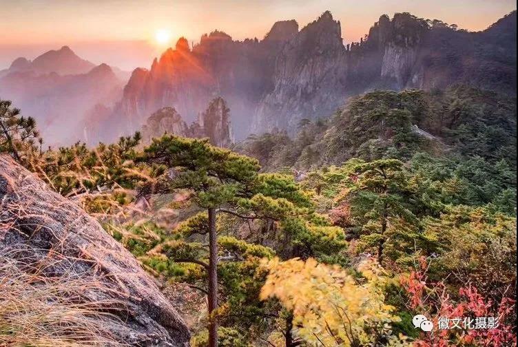 2020年黄山、齐云山、七彩滩、高山山核桃金叶秋色风光及嗮秋人文摄影精品团